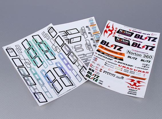 Self Adhesive Decal Sheet - Norton 1/10 Scale (3pc)