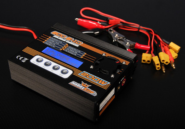 HobbyKing™ ECO6-10 200W 10A 6S Bal/Dis/Cyc Charger w/ acc.