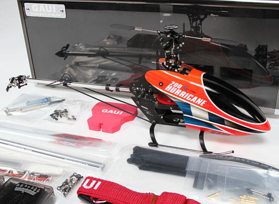 Gaui Hurricane 200 EP 3D Helicopter Deluxe Combo - Red