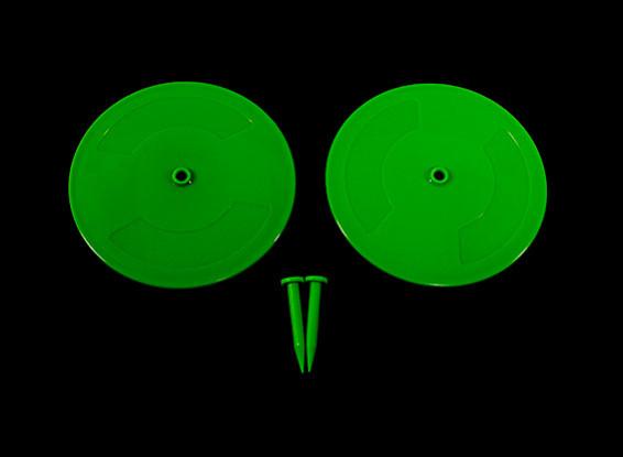 Radio Control Car Track Drift Markers Green 2 x 200mm