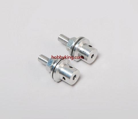Prop adapter w/ Steel Nut M6x4mm shaft (Grub Screw Type)
