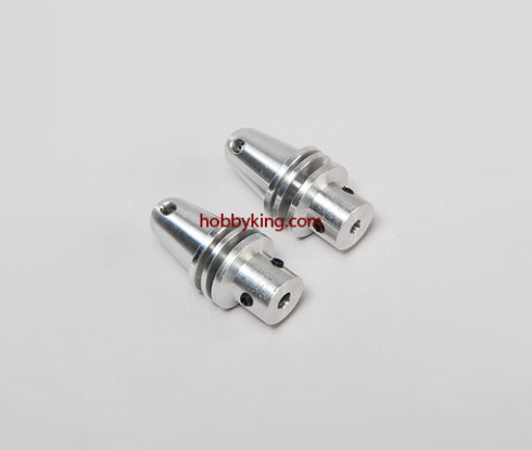 Prop adapter w/ Alu Cone 1/4x28-3.2mm shaft (Grub Screw Type)