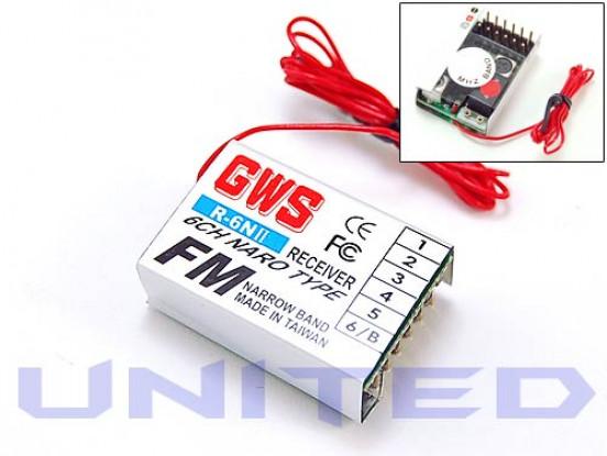 GWS R6 NII 6Ch FM Naro Receiver 35mhz
