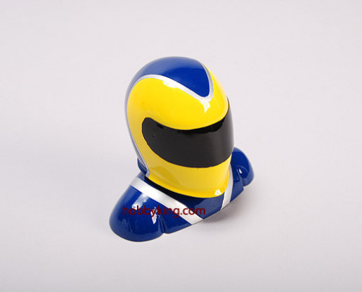 Fibreglass Pilot Model Yellow & Blue (small)