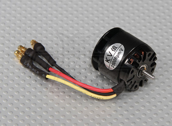 X250-3500kv Brushless Outrunner Motor w/Cooling Fan & Pinion