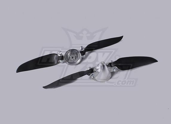 Folding Propeller Assembly 7.3x4 (Alloy/Hub Spinner) (2pc/bag)