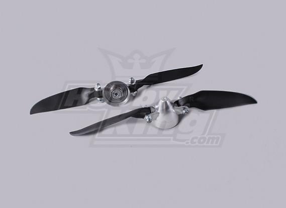 Folding Propeller Assembly 7.5x4 (Alloy/Hub Spinner) (2pc/bag)