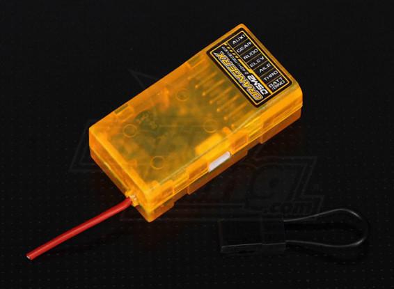 OrangeRx R610 Spektrum DSM2 6Ch 2.4Ghz Receiver (w/ Sat Port)