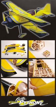 Pitts-Python .60e 58inch ARF 98% pre built.