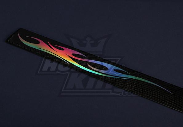 Ultra-thin Prismatic Pre-Cut Sticker 265x33mm (4 pairs)