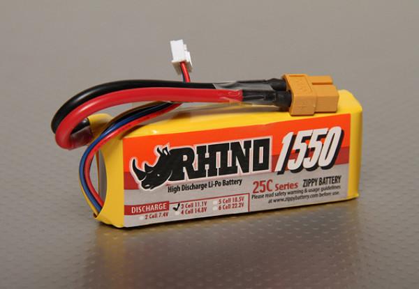 Rhino 1550mAh 3S1P 25C Lipoly Pack