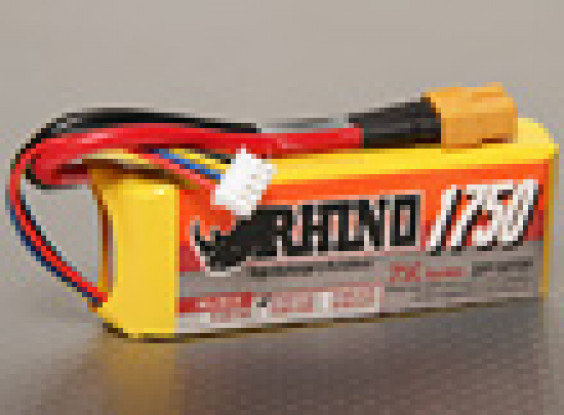 Rhino 1750mAh 3S1P 25C Lipoly Pack
