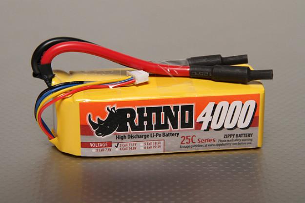 Rhino 4000mAh 3S2P 25C Lipoly Pack