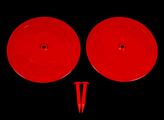 Radio Control Car Track Drift Markers Red 2 x 200mm