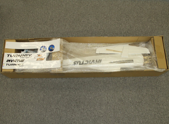 SCRATCH/DENT - HobbyKing Invictus EF-1 Pylon Racer Balsa 1288mm - Full White (ARF)
