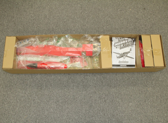SCRATCH/DENT - HobbyKing Invictus EF-1 Pylon Racer Balsa 1288mm - Red (ARF)
