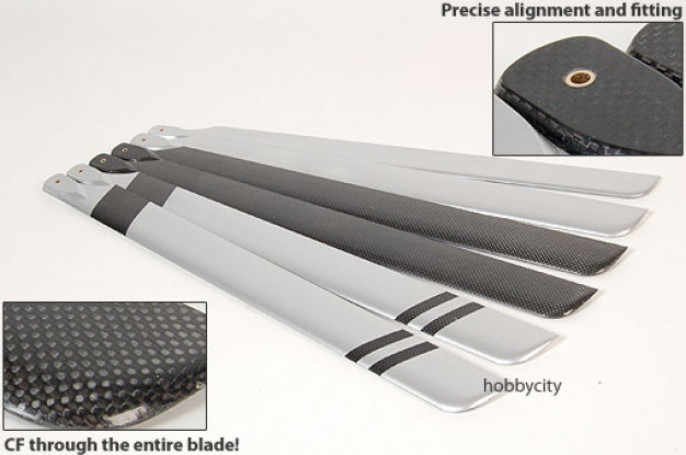 Full Carbon Fiber 600 size blades (600 x 55mm)