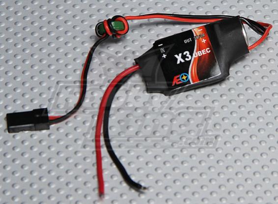 X3 UBEC 6v-23v input - 5v 3A Output