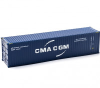 HO Scale 40ft Shipping Container (CMA CGM) side view