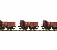 Roco/Fleischmann HO 3 Piece Wagon Set Type Omp (DRG)