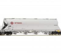 """Roco/Fleischmann HO Scale Coal Dust Container Carrier Wagon """"ERMEWA"""""""