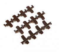 Micro Engineering HO/N Scale Code 70 Plastic Insulated Rail Joiners 12pcs (26-071)
