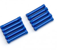 Lightweight Aluminium Round Section Spacer M3x29mm (Blue) (10pcs)