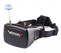 """Visionplus FPV Goggles w/ Integrated 5"""" TFT Monitor and 40 Channel Receiver"""