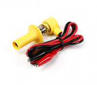Lock-On Glowclip with Lead & Alligator Clips (Yellow)