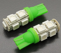 LED Corn Light 12V 1.8W (9 LED) - Green (2pcs)