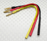 2.0mm Male/Female Bullet Brushless Motor Extension Lead 100mm