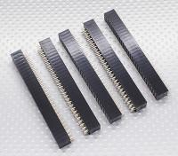 3x30P Pin Socket - 2.54mm Pitch (5pcs/bag)