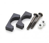 Black Anodized CNC Aluminum Tube Clamp 12mm Diameter