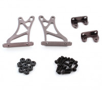 1/10 Alum. Adjustable Wing Support Frame - High (Titanium)