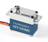 Turnigy™ TGY-259BL Brushless High Torque DS Servo 25T w/Alloy Case 16kg / 0.09sec / 70g