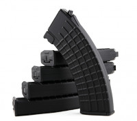King Arms 600rounds Waffle Pattern magazines for Marui AK AEG (Black, 5pcs/ box)