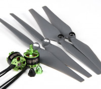 MultiStar 350 to 450 Frame Size 2212 Combo Set With Self-Tightening Propellers CW/CCW Set Of 2