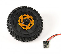 Rear Wheel w/ All Parts Assembled - Super Rider SR4 SR5 1/4 Scale Brushless RC Motorcycle