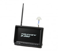 8 inch 800 x 480 LCD Sunlight Viewable FPV Monitor w/32CH Dual Receiver, PIP (US plug)