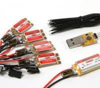 KINGKONG 12A OPTO ESC BLHeli (2-4S) (4pcs) Combo Pack w/UBEC and Programing Adapter