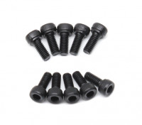 Screw Socket Head Hex M2.5 x 6mm Machine Thread Steel Black (10pcs)