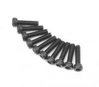 Screw Socket Head Hex M2.6 x 10mm Machine Thread Steel Black (10pcs)