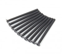 Screw Countersunk Hex M3x40mm Machine Thread Steel Black (10pcs)