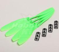 GWS Style Slowfly Propeller 8x4.5 Green (CW) (4pcs)