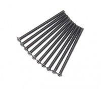 Screw Button Head Hex M3x50mm Machine Thread Steel Black (10pcs)
