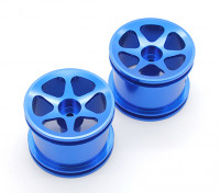 GPM Racing Associated RC18T Alloy Standard Sinkage Surface Rims (6 Poles) (Blue) (1pr)