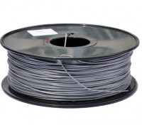HobbyKing 3D Printer Filament 1.75mm PLA 1KG Spool (Metallic Silver)