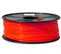 HobbyKing 3D Printer Filament 1.75mm PLA 1KG Spool (Fluorescent Red)