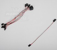 20cm Servo Lead (Futaba) 32AWG Ultra Light (10pcs/set)