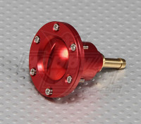 CNC Alloy Fuel Filler Port for Large scale gas/turbine models (Fuel Dot - Red)